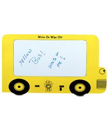 Skilloffun Wooden School Bus White Board - Yellow