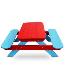 Skilloffun Wooden Activity Table - Red And Blue