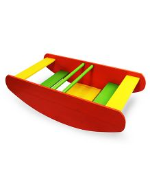 Skilloffun Rocking Wooden Boat And Stepper - Multicolour
