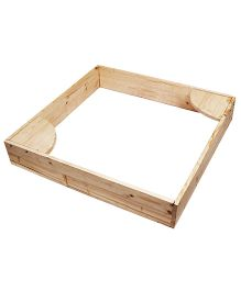 Skilloffun Wooden Sand Pit - Brown