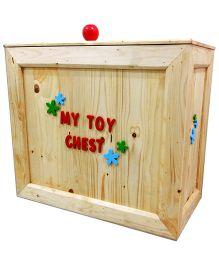 Skilloffun Wooden Toy Chest - Brown