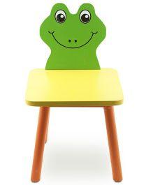 Skilloffun Wooden Chair Frog Design -  Green