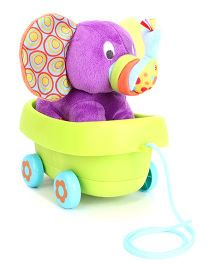 Little Pals Timber the Elephant Pull Along Toy - Multicolour