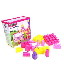 I-Builder Castle Set Pink And Yellow - 45 Pieces
