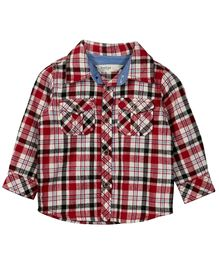 Beebay Yarn Dyed Full Sleeves Check Shirt - Maroon