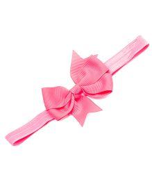 NeedyBee Headband With Ribbon Bow - Pink
