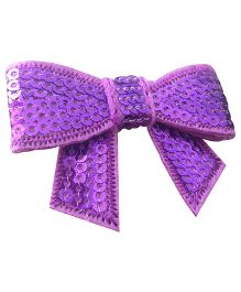 NeedyBee Hair Clip With Sequinned Bow - Purple
