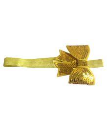 NeedyBee Headband With Sequined Bow - Yellow