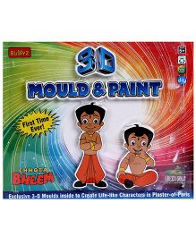Chhota Bheem DIY 3D Mould And Paint - Multicolour