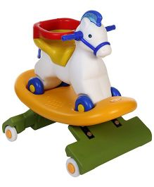 Toyzone Napoleon Horse 3 in 1 Manual Push Ride On Cum Rocker White And Red - 50995