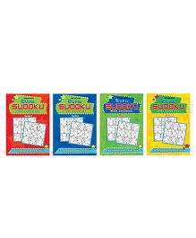 Super Sudoku With Solutions Books Pack 4 Titles