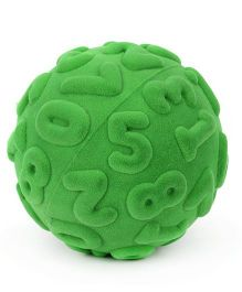 Rubbabu Numerals Rubber Foam Ball - Green