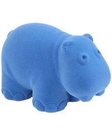 Rubbabu Rubber Foam Hippo Blue - 4 Inches