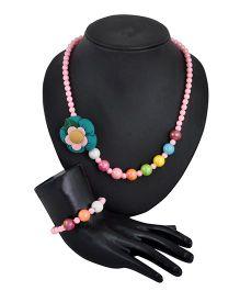 Angel Glitter Pretty Pink Pearl Jewellery Set
