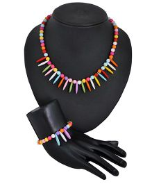 Angel Glitter Bead Jewellery Set - Multi Color