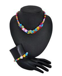 Angel Glitter Little Flower Jewellery Set - Multi Color