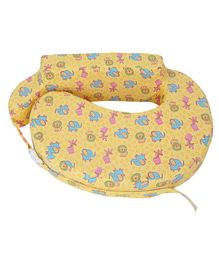 Comfeed Pillows By Nina Nursing and Feeding Pillow Teddy Bear Print - Yellow