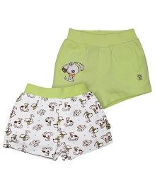 FS Mini Klub Cotton Shorts Set Of 2 - Green White