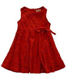 Tiny Closet Sleeveless Lace Dress - Red