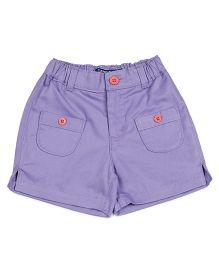 Campana Patch Pocket Shorts - Lilac