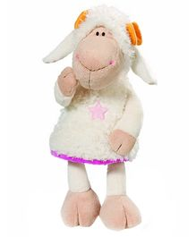 Nici Sheep Plush Soft Toy White - Height 6 Inch