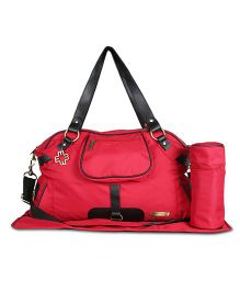 My Milestones Diaper Bag - Red