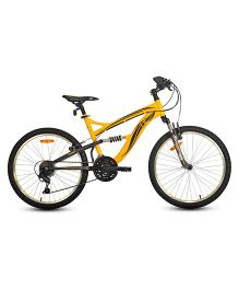 UT DSJ2 24 Inches 18 Speed Junior Cycle 17 Inches Frame - Yellow