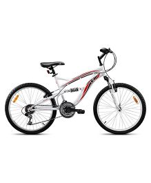 UT DSJ2 24 Inches 18 Speed Junior Cycle 17 Inches Frame - White