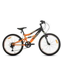 UT DSJ1 24 Inches 6 Speed Junior Cycle 13 Inches Frame - Black And Orange