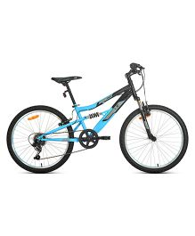 UT DSJ1 24 Inches 6 Speed Junior Cycle 13 Inches Frame - Black And Blue