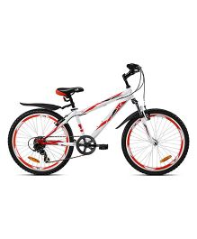 UT HTJ1 24 Inch 6 Speed Junior Cycle - White And Red