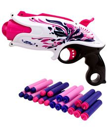 Mitashi Bang Petrel Toy Gun - White And Pink