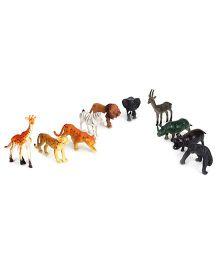 Smiles Creation Wild Animal Set Of 10 - Multicolour