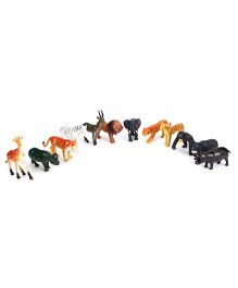 Smiles Creation Wild Animal Set Of 12 - Multicolour