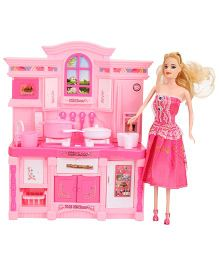 Smiles Creation Doll Kitchen Set With Light And Music