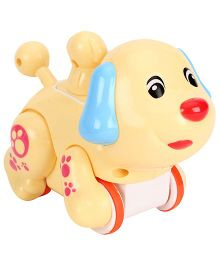 Smiles Creation Press N Go Funny Animal Dog - Light Yellow
