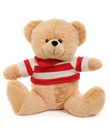 Funzoo Teddy Bear With T-Shirt Brown - Height 14 Inch