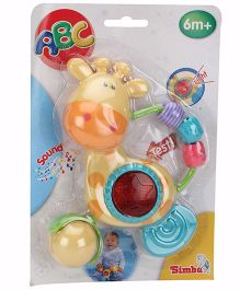 ABC Light And Sound Giraffe Rattle - Multicolour