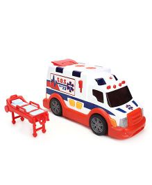 Dickie Ambulance Van - White And Orange