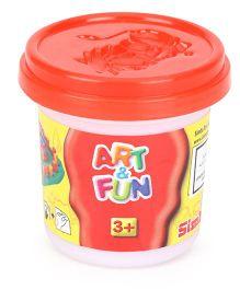 Art & Fun Soft Dough Pots In Display Red - 140 grams