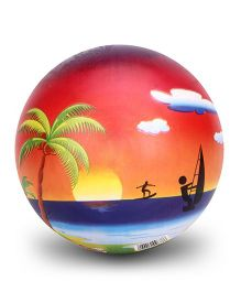 Simba Vinyl Play Ball Sea Beach Print - 9 Inches