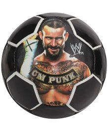 Simba Soccer Ball C M Punk Print - Black