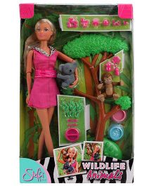 Steffi Love Wildlife Animals Doll And Accessories Set