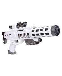 Simba Planet Fighter Battery Operated Light Blaster Rifle With Light And Sound - White