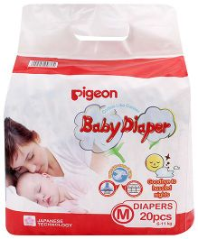 Pigeon Baby Diaper Medium - 20 Pieces
