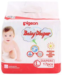 Pigeon Baby Diaper Large - 17 Pieces