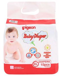 Pigeon Baby Diaper Extra Large - 15 Pieces