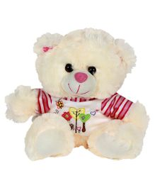 Dealbindaas Fun Dress Teddy Bear Cream - 30 cm (Colours May Vary)