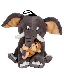 DealBindaas Elly Monkey Soft Toy  Grey - Height 11.8 inches