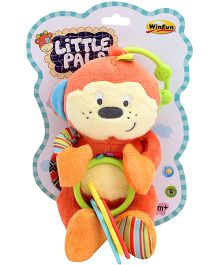 Winfun Little Pals Hand Rattle Multicolour - Height 6 Inch